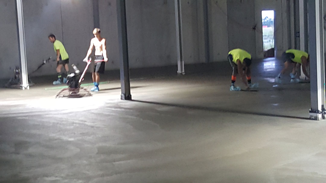 Concrete Buffing after laying