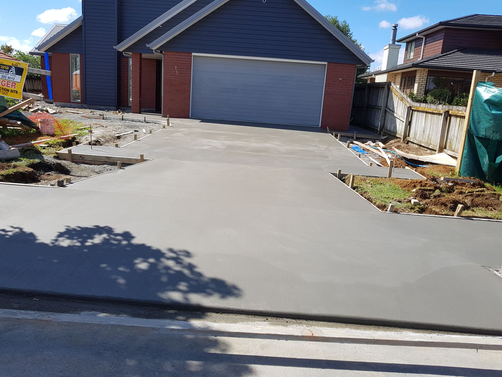 New Build House with Concrete by Wallen