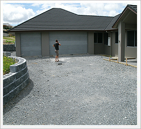 Exposed Concrete Driveway - Before